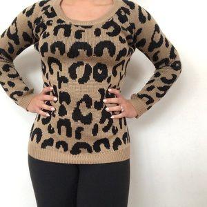 Cheetah Print Sweater size S